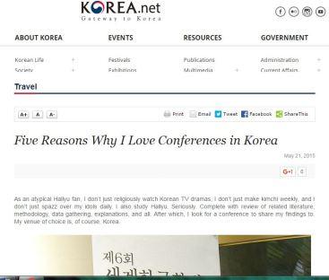 Korea Blog_Five reasons why i love conferences in korea